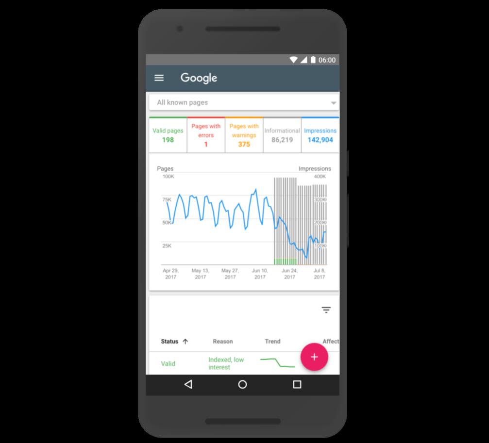 Nuova Google Search Console 2017 - Report Indicizzazione
