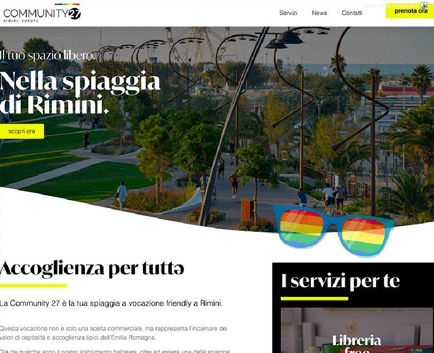 La Community 27 spiaggia a Rimini